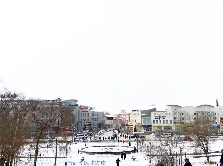 ウラン=ウデの戦勝公園から見下ろした市街中心部