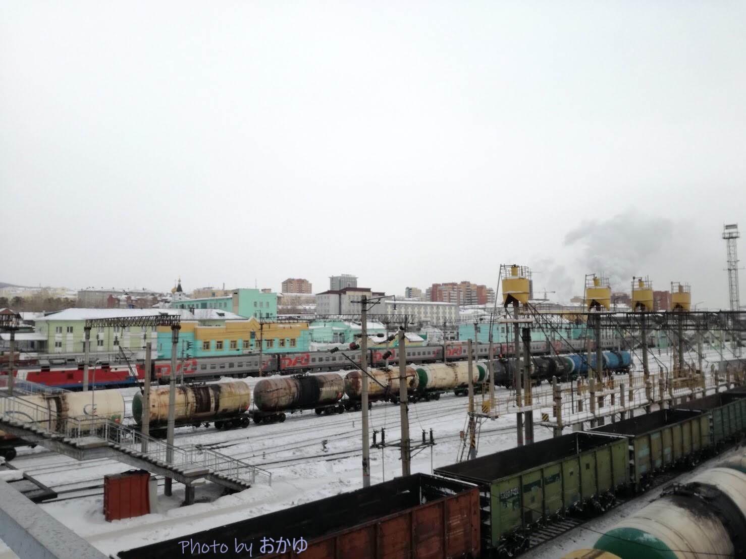 シベリア鉄道横断旅行記:ウラン=ウデ駅前